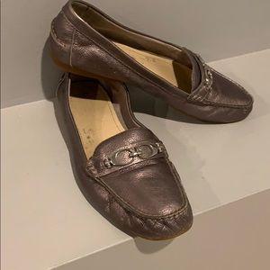 COACH FORTUNATA LoaferSilver Shimmer Size 11M